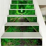 HCC& 3D Autocollants D'escaliers, DIY Auto-Adhésif, Autocollant Decal Amovible Mural...