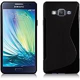 Samsung Galaxy A3SM-A300°F A3SM-A300FU/Duos SM-A300°F A300G/DS/DS A300H/DS A300M/DS, silicona Gel S-Line Diseño Negro