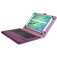Samsung Galaxy Tab 2 10.1 Custodia con Tastiera, COOPER INFINITE EXECUTIVE Custodia a libro Per Il Trasporto di Tablet con Tastiera Bluetooth QWERTY Wireless Removibile con supporto (Viola)