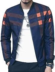 LOGEEYAR Men's Bomber Jacket Casual Slim Fit Printed Outerwear