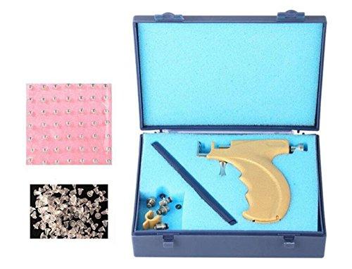 Piercing para la nariz con labios profesionales de acero para el cuerpo, herramienta de seguridad para el piercing de la pistola de la nariz con 108 pendientes de acero para los oídos