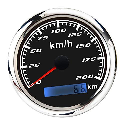 KESOTO Indicador de Velocímetro de GPS Digital Impermeable Odómetro 0-200 km Acero...