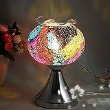 Ddgdg Lampada a induzione per Profumo, Plug-in a Mosaico in Vetro Touch Lampada a Olio Forno per aromaterapia per Camera da Letto e Soggiorno,A