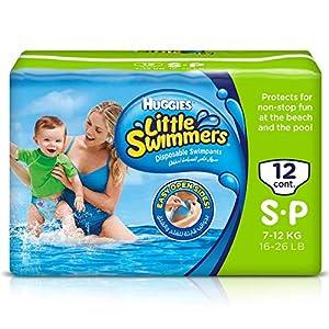 Huggies U1833930 - Pañal de natación, talla 3-4 (7-15 kg), pack de 2 x 12 7