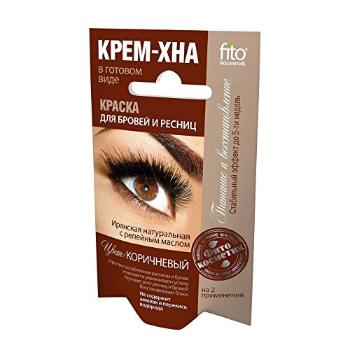Fito Natural Dye Eyebrows & Eyelashes Henna Cream Color Brown 2x2ml (Pack of 2)