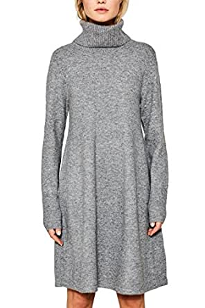 ESPRIT Damen Kleid 107EE1E020 Grau (Grey 5 034), X-Small