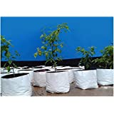 Rochfern Grow Bag LARGE,(Set of 15)100% Virgin Polyethylene, (24 x 24 x 40 Cms.) Portable .UV treated, perfect for Terrace, Balcony, Kitchen vegetable plants and flowering plants garden, Flats, or any small spaces Good looking White Outside ,Black Inside -for Best root development 15 grow bags