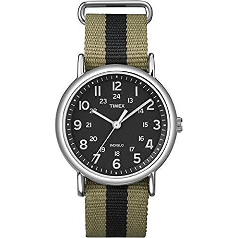 Timex Unisex-Armbanduhr Weekender Analog Quarz Nylon T2P236