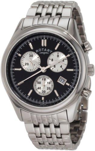 Rotary GB00030/04 - Reloj de Pulsera Hombre, Acero Inoxidable, Color Plata