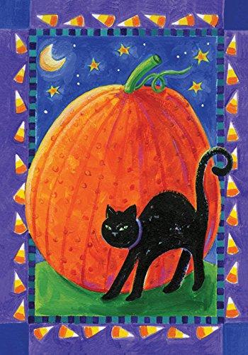 agge Kürbis und Katze, 31,8 x 45,7 cm, dekorative Kürbis für Halloween, Kürbis ()