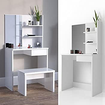 parisot eck schminktisch volage in wei k che haushalt. Black Bedroom Furniture Sets. Home Design Ideas