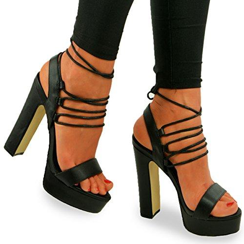 Cucu Fashion - Strap alla caviglia donna Black Pu