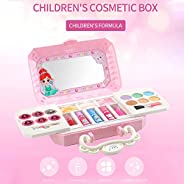 Eookall Dress-Up Toy Makeup Cosmetic Mini Box Pretend Play Girls Cosmetics Kit Environmental Toys Beauty Safet
