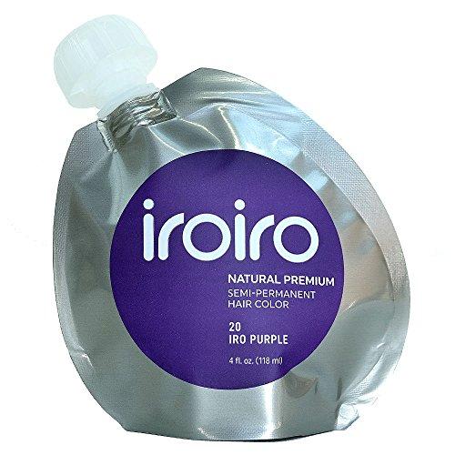 Iroiro Premium Natural Semi-permanenten Haar Farbe 20Iro-Lila 4Oz (Candy Cotton Fuchsia)