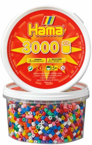 Hama Beads - Solid Mix 3000 Tub (Midi Beads)