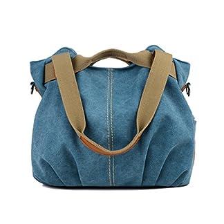 LOSMILE mujer lona Bolso de mano Bolso de bandolera Bolsa de hombro Bolsa de cuerpo cruzada Bolso de mano Bolsa de ocio (Azul)