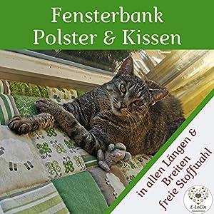 Fensterbank Kissen für Katzen Unterlage freie Stoffwahl, Größe bis ca. 100 x 25-30 cm