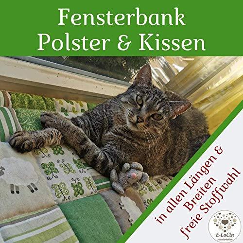 Fensterbank Kissen GLÜCKSKLEE Patchworkdesign ca. 120 x 25-30 cm