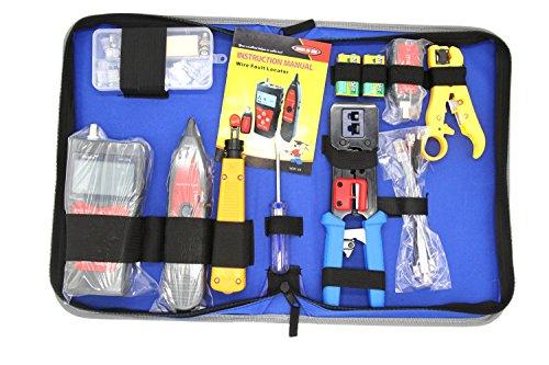 NOYAFA nf-1504Netzwerk-Installation Tool Kit –-inkl. LAN Koax-Tester, RJ45RJ11-Crimper 110PUNCH DOWN Werkzeug