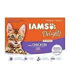 Iams Wet Cat Food Delights Gravy, 12 x 85 g
