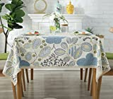 Baumwolle Tischdecke Blau Vintage Blume Hotel Tischdecke Couchtisch Abdeckung Staubdicht Tischdecke , 120*160