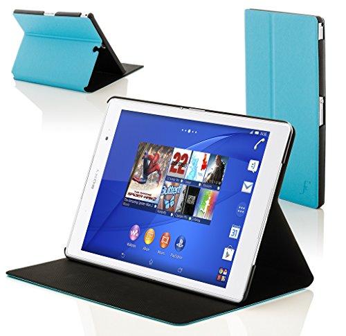 Forefront Cases® Neue Origami Leder Hülle / Tasche / Case / Cover für Sony SGP611 Xperia Z3 Tablet Compact 20,3 cm (8 Zoll) - Rundum-Geräteschutz und intelligente Auto-Sleep-Wake-Funktion mit 3-JAHRES-GARANTIE VON FOREFRONT CASES