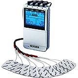 Electroestimulador profesional TENS EMS X9+ - para alivio del dolor, musculación y masaje - 4 canales - 45 programas - Aparato profesional para uso personal