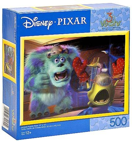 Image of Disney Monsters Inc, 3-D Visions Lenticular Puzzle - 500 Pieces