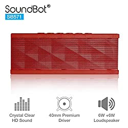 SoundBot SB571 Bluetooth Speakers (Red)