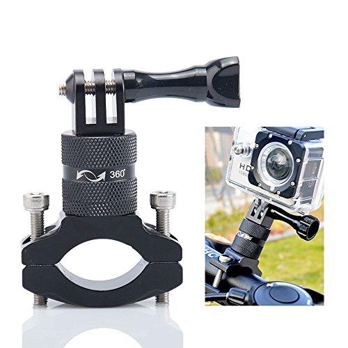 Soporte Cámara Bici,Action CAM Bike Mount,Bike Handlebar Mount,Soporte Garmin Bicicleta,Adaptador Bici Gopro para 360 Grados para GoPro Hero 6/5/4/3+/3/2/Session Sony Action CAM Xiaoyi Sport Camera