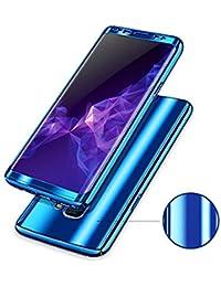 Teryei Funda Samsung Galaxy S8/S8 Plus, 3 en 1 Hard PC Case 360 Degree protección Anti-Scratch Carcasa [Ultra Slim] Enchapado Anti-Estático Case Absorción Bumper