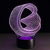 Lumière Visuelle 3D Lumière De Nuit Menée, Cadeau De Jour De Décoration De Maison De Commutateur De Contacteur