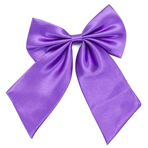 Damen Fliege Schleife Binder Schlips - 28 ~ 49 cm Länge Verstellbare Bowknot Krawatten (Lila)