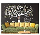 Sayala Baum Wandtattoo-Family Photo Frame Wandaufkleber-Babyzimmer Tierwelt Baby Wandaufkleber Kleinkind Sticker Mädchenzimmer Wanddekor (Weiß)