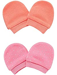 Mothercare Baby Girls' Regular Fit Mittens (Pack of 2)