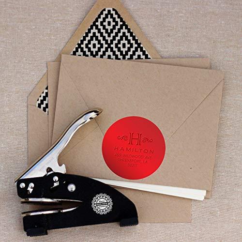 DREI Design-Foliendichtungen für Designer Präger, Rot (Designer Briefpapier)