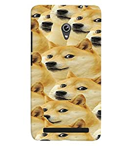 Printvisa Pattern Of A Group Of Dogs Back Case Cover for Asus Zenfone 6::Asus Zenfone 6 A600CG