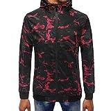 DIANDGE Kapuzenpullover Herren Blend ❤Herren Camouflage Zipper Pullover Langarm mit Kapuze Sweatshirt Tops Bluse