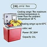 SL&BX Nevera pequeña,Agua fría y caliente nevera pequeña 21lcar caja portátil mini nevera coche dormitorio hogar doble uso de calefacción y refrigeración de doble uso-rojo 39x28x42cm(15x11x17inch)