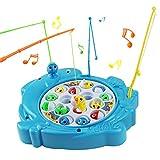 Angelspiel Kinder Fische Spiel Musik Kinderspielzeug Brettspiel Fische Pädagogisches Spielzeug ab 3,4,5,6 Jahren(Delphin Geformt) (15 Fische)