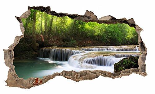 Preisvergleich Produktbild Wandtattoo Mauerloch Wandfolie Aufkleber Wohnzimmer Schlafzimmer (WL11 Wasserfall)