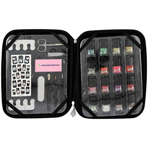 Gloss Kit de Nail Art Shopa Beauty Croco Noir 26 Pièces, Coffret Cadeau-Coffret Maquillage