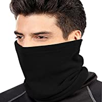 Multi-function Scarf ,ANGTUO Double Layer Thicker Hat Men and Women Multi - Functional Winter Warm Outdoor Riding Collar Neck Wheel Warmth Snood Neck Sets-5 Colors