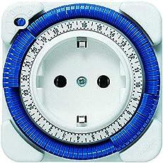 Theben 0260030 theben-timer 26 - analoge Zeitschaltuhr, Steckdosen-Schaltuhr, Zeitprogrammstecker, weiß