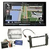 Pioneer AVIC-Z810DAB Navigation Digitalradio CarPlay Android Auto Bluetooth USB DAB+ CD DVD MP3 Einbauset für Mercedes A W169 B Klasse W245