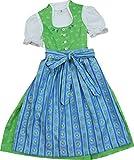 Kinderdirndl Melissa mit Schalkragen apfelgrün 3tlg. Komplettset von Bärwolf , Farben:grün;Größen:98