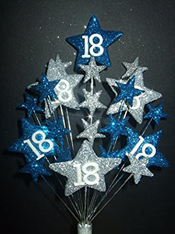 STAR AGE 18TH BIRTHDAY CAKE TOPPER IN LASER AND SILVER