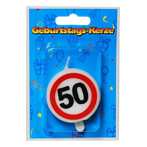 23-tlg. Partyset 50. Geburtstag Dekoset Dekobox – Verkehrschild – Girlanden, Luftballons - 6