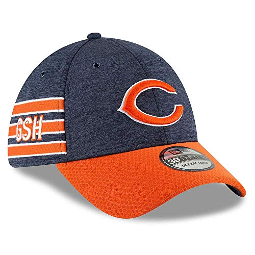Bears Authentic 2018 Sideline 39THIRTY Stretch Fit Home Cap, Größe :S/M ()