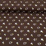 MAGAM-Stoffe Sterne Pekka Jersey Stoff Kinderstoff Oeko-Tex Meterware 50cm (3. Dunkelbraun)